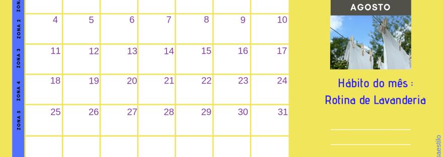 Calendario Flylady.Programe Suas Tarefas Com O Calendario Flylady Agosto De